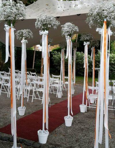 Blumeninszenierung unterstreicht den Eventcharakter