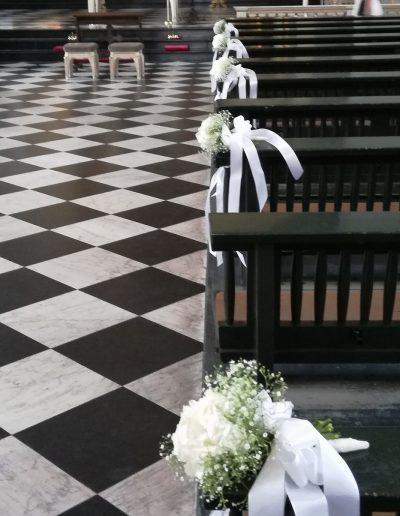 Romantische Dekoration der Kirche