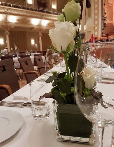 Gala Tisch-Dekoration Historische Stadthalle
